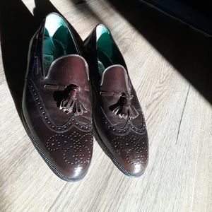 Men's Vintage Gucci Brown Wingtip with tassels 43D